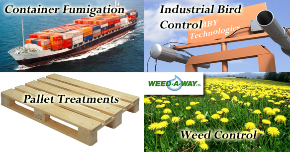 Container Fumigation, Bird Cannons, Pallet Treatments, Weed Control